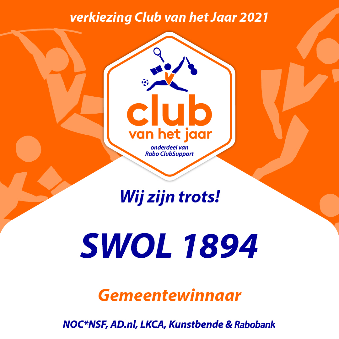 SWOL 1894 Gemeentewinnaar in verkiezing club van het jaar 2021